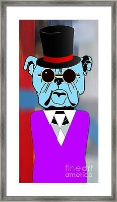 Going Somewhere Bulldog Framed Print
