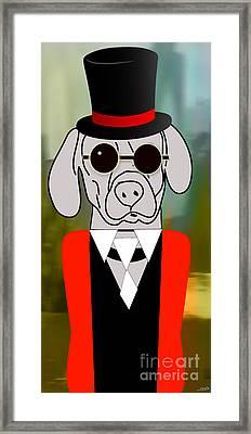 Going Somewhere Mr Weimaraner Framed Print by Marvin Blaine