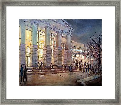 Going To Hear Wagner Framed Print