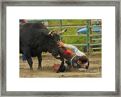 Going To Hurt Framed Print by Rick  Monyahan