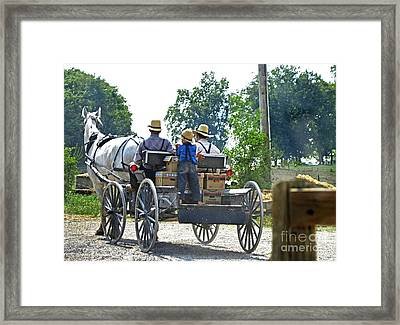 Going To Market Framed Print by Paul Mashburn