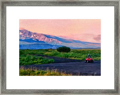 Going To School Cold Bay Style Framed Print by Michael Pickett