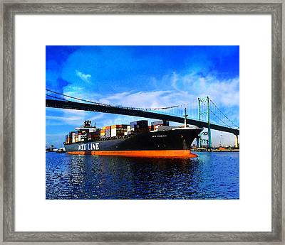 Going To Sea Framed Print by Timothy Bulone