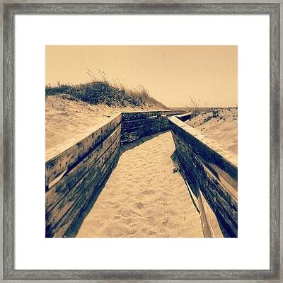 Going To The Beach Framed Print by Emanuela Carratoni