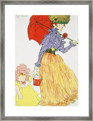 Going To The Beach, From Lestampe Framed Print
