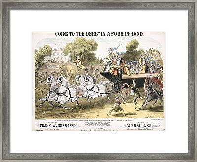 Going To The Derby, 1870 Song Framed Print by British Library
