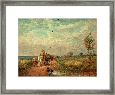 Going To The Hayfield Going Home From Haymaking Signed Framed Print by Litz Collection