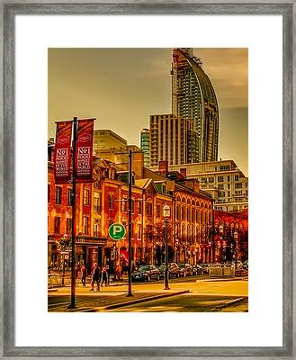 Going To The Market Framed Print
