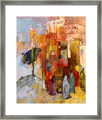 Going To The Medina In Morocco Framed Print by Miki De Goodaboom
