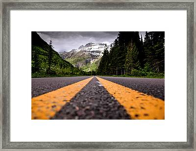 Going To The Sun Framed Print by Aaron Aldrich