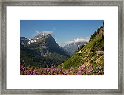 Going To The Sun Road Framed Print by Natural Focal Point Photography