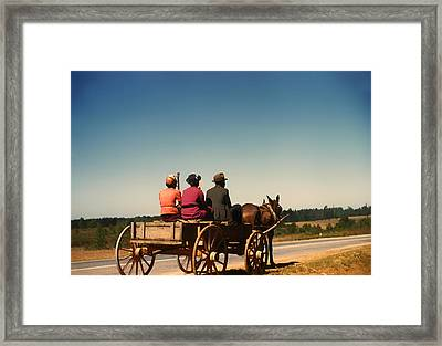 Going To Town - Greene County Georgia 1941 Framed Print by Mountain Dreams