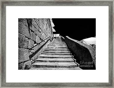 Going Up In Porto Framed Print by John Rizzuto