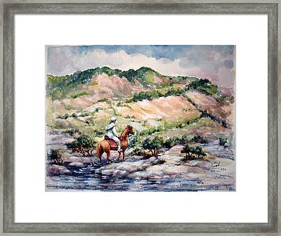 Going Up To The Hills Framed Print by Laila Awad Jamaleldin