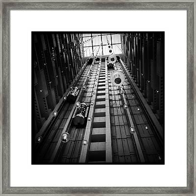 Going Up? Framed Print