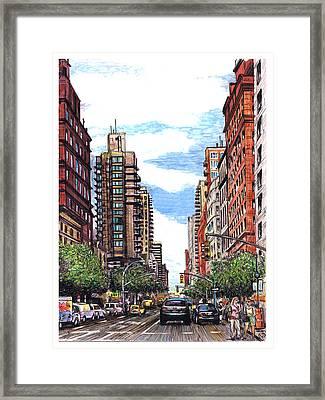 Going Uptown Framed Print