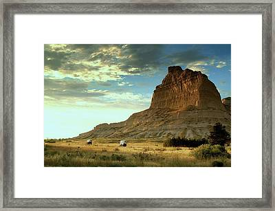 Going West.. Framed Print