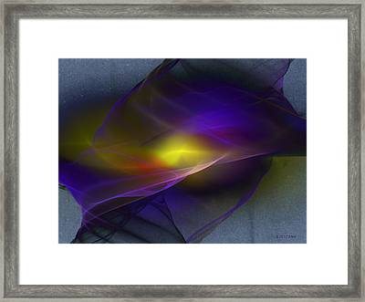 Going With The Flow Framed Print by Elizabeth S Zulauf