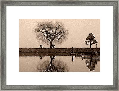 Going With The Flow Framed Print