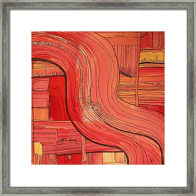 Going With The Flow Framed Print by Mtnwoman Silver