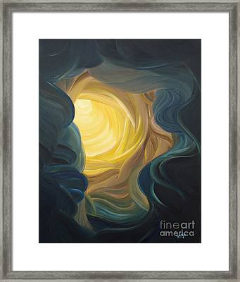 Going Within Framed Print by Ginny Gaura