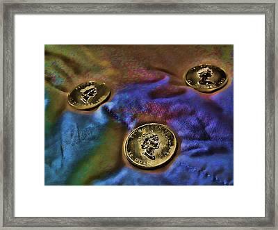 Framed Print featuring the digital art Gold 2 by Robert Rhoads