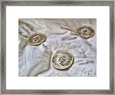 Gold 3 Framed Print