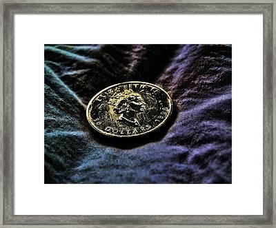 Framed Print featuring the digital art Gold 5 by Robert Rhoads