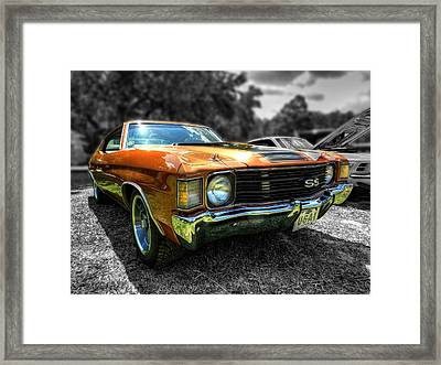 Gold '72 Chevelle Ss 001 Framed Print by Lance Vaughn