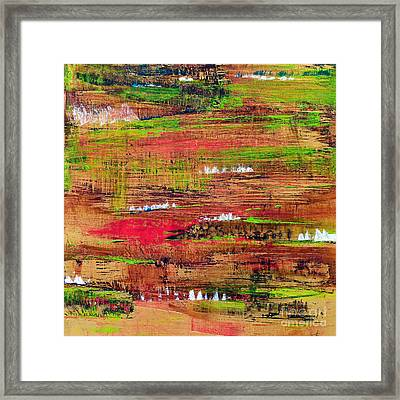 Gold - Abstract Framed Print by Ismeta Gruenwald