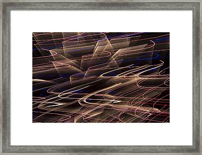 Gold Abstract Lights Framed Print