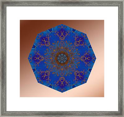 Gold And Blue Framed Print by Michele Kaiser