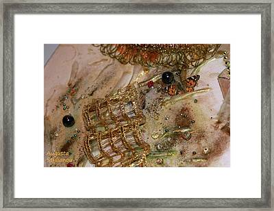 Gold And Butterfly Framed Print