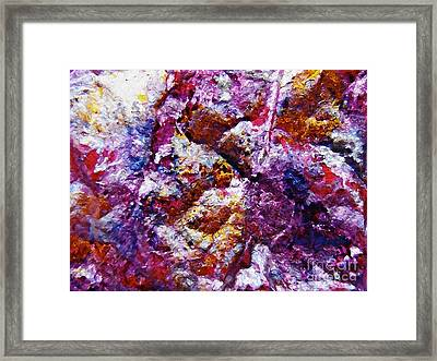 Gold And Glitter 41 Framed Print by Sarah Loft