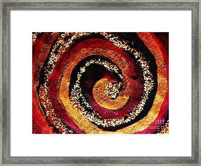 Gold And Glitter 55 Framed Print by Sarah Loft