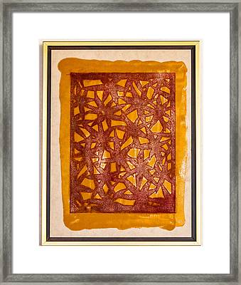 Gold And Maroon Framed Print