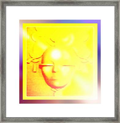 Gold Angel Framed Print by Hartmut Jager