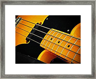 Gold Bass And Strings  Framed Print by Chris Berry
