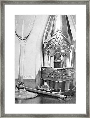Gold Bottle Framed Print by Anthony Johnson