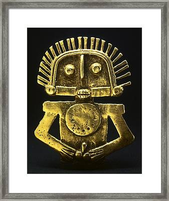 Gold Breastplate. Proceeds Framed Print by Everett