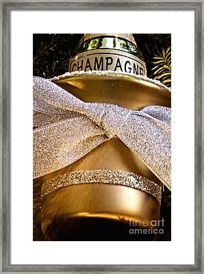 Gold Champagne Ornament Framed Print by Birgit Tyrrell