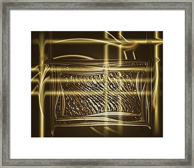 Gold Chrome Abstract Framed Print