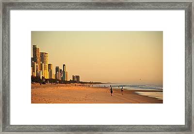Framed Print featuring the photograph Gold Coast Beach by Eric Tressler