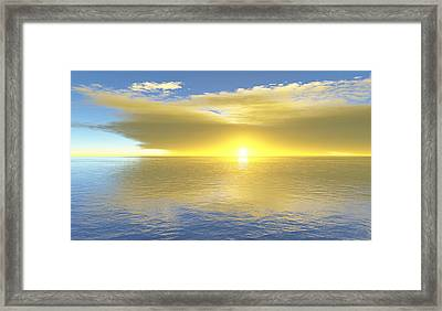 Framed Print featuring the digital art Gold Coast by Mark Greenberg