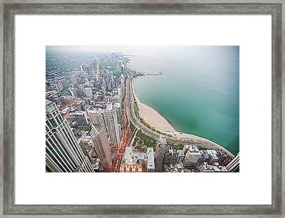 Gold Coast Of Chicago Framed Print by By Ken Ilio