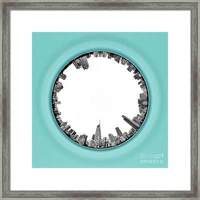 Gold Coast Skyline 5 Circagraph Framed Print by Az Jackson