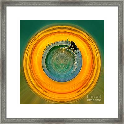 Gold Coast Surfer Circagraph Framed Print by Az Jackson