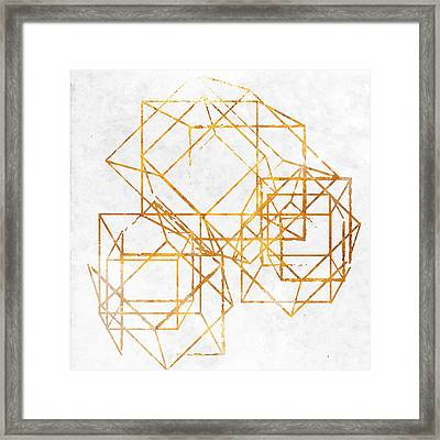 Gold Cubed II Framed Print by South Social Studio