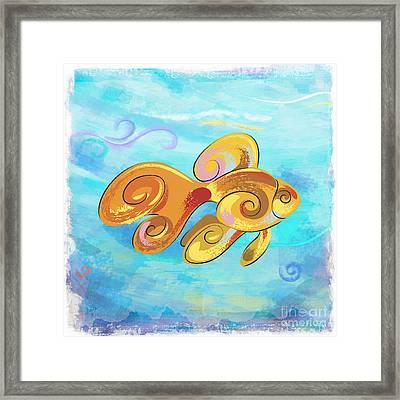 Gold Fish Framed Print by Bedros Awak