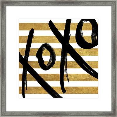 Gold Glam Xoxo Framed Print by South Social Studio